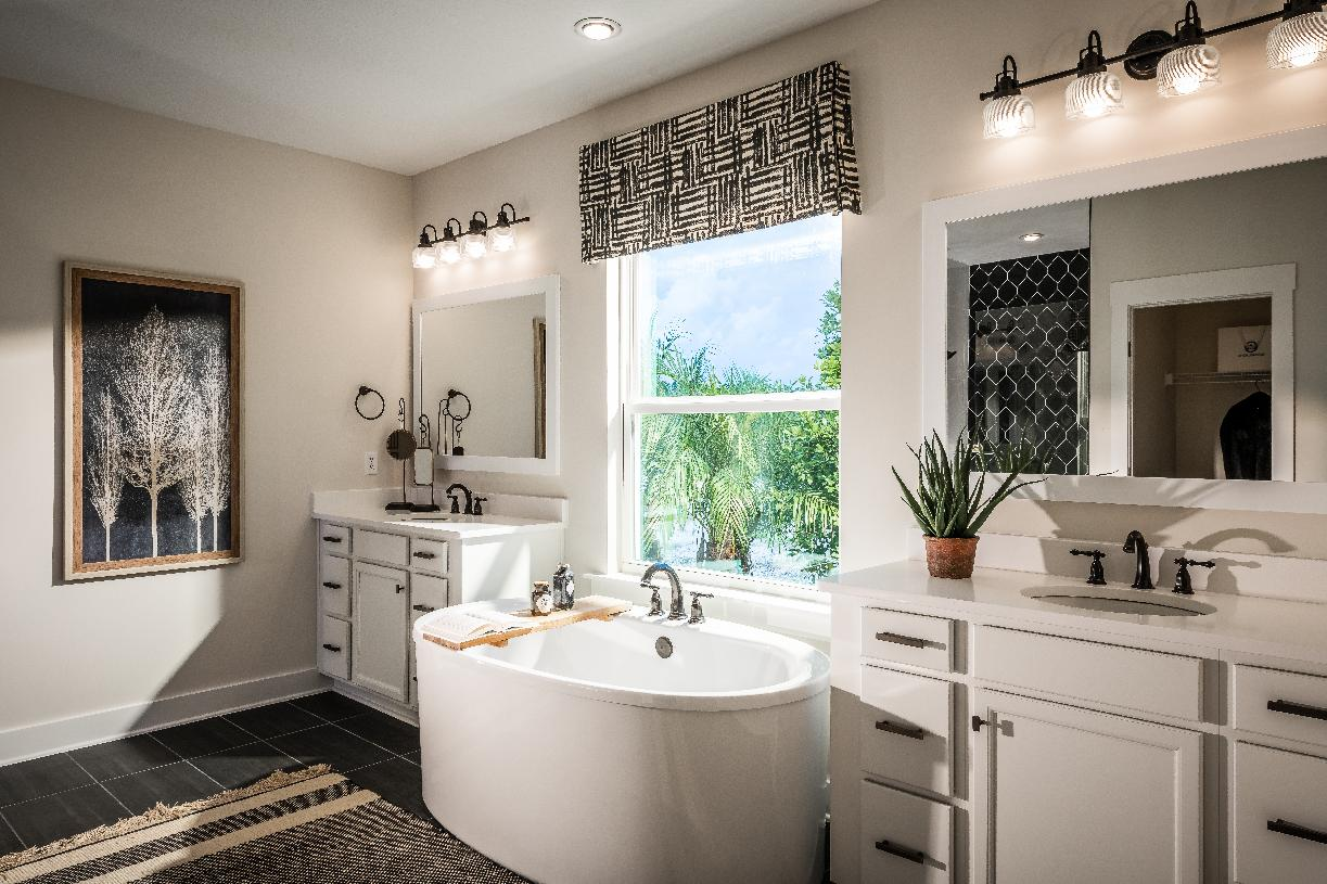 Spa-inspired primary bathroom