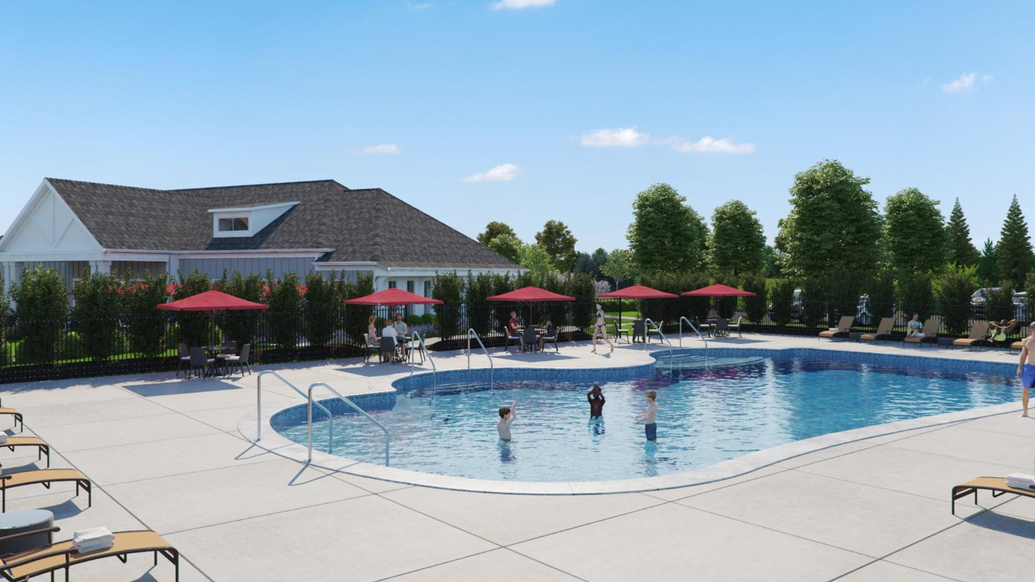 Sunny days spent poolside at the clubhouse