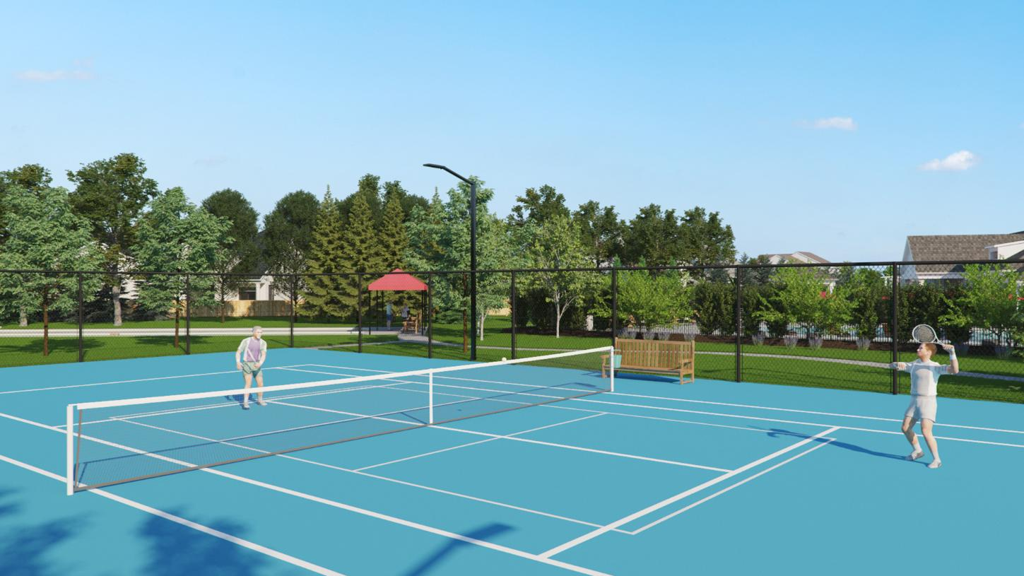 Future tennis court at the Regency at Allaire clubhouse