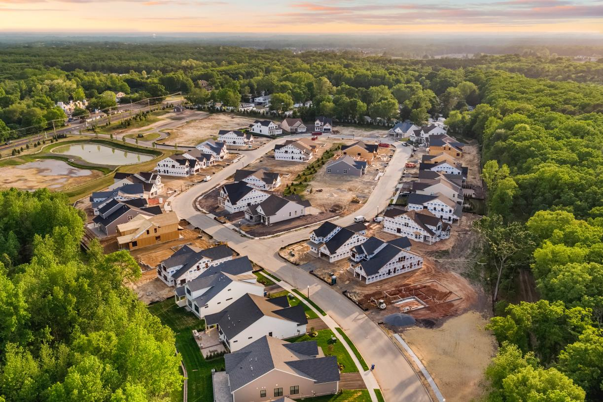 Aerial view of Regency at Allaire