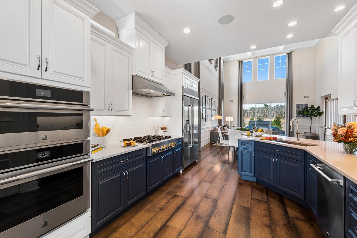 Indoor/outdoor living flow from kitchen to backyard