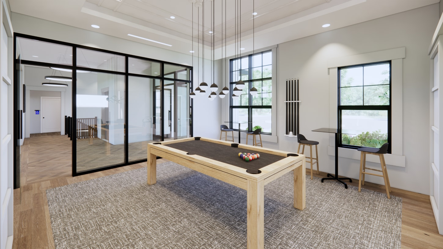 Play a game of pool with friends