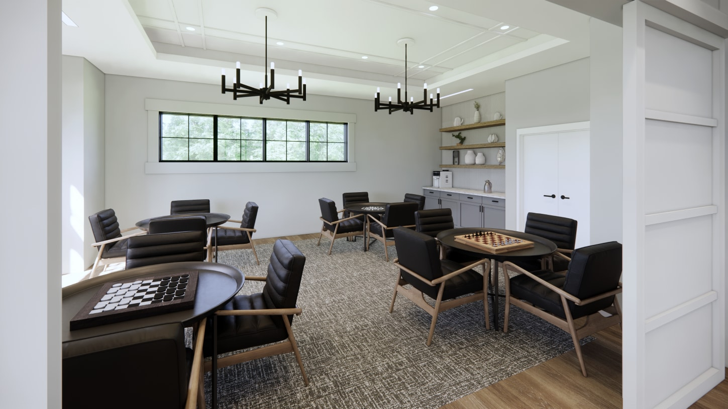 Gather for fun in the game room