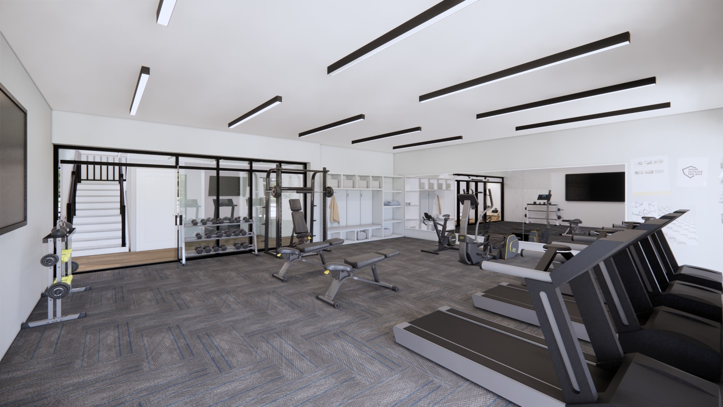 Exercise in the state-of-the-art fitness center