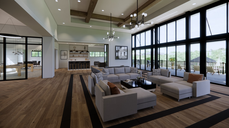Graceful space with modern farmhouse feel