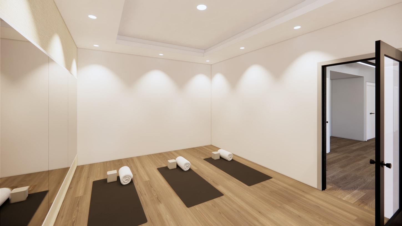 Balance mind and spirit in the serene yoga studio