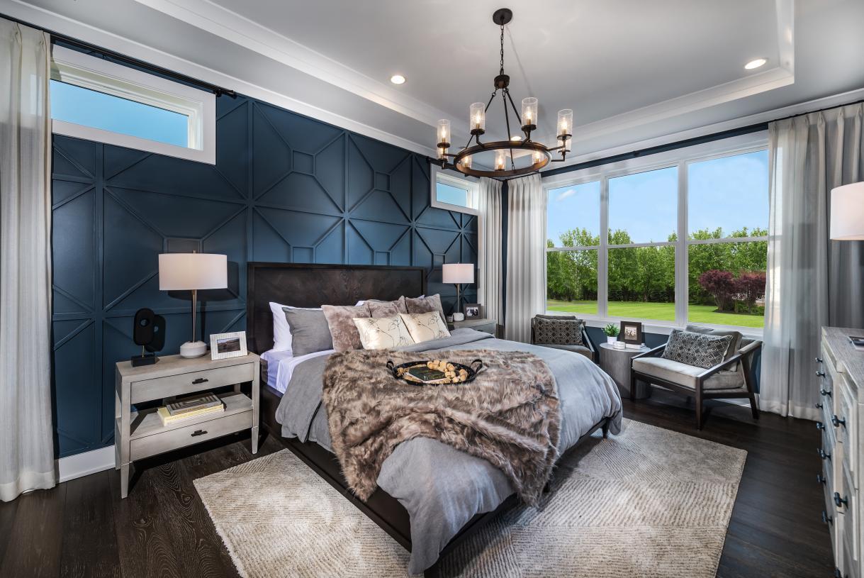 Spacious first-floor primary bedroom suites