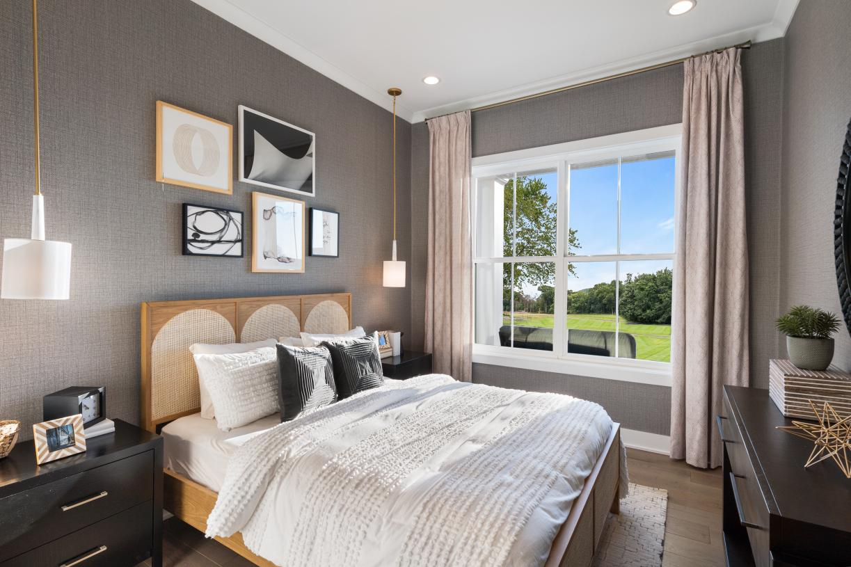 Secluded secondary bedrooms for guests