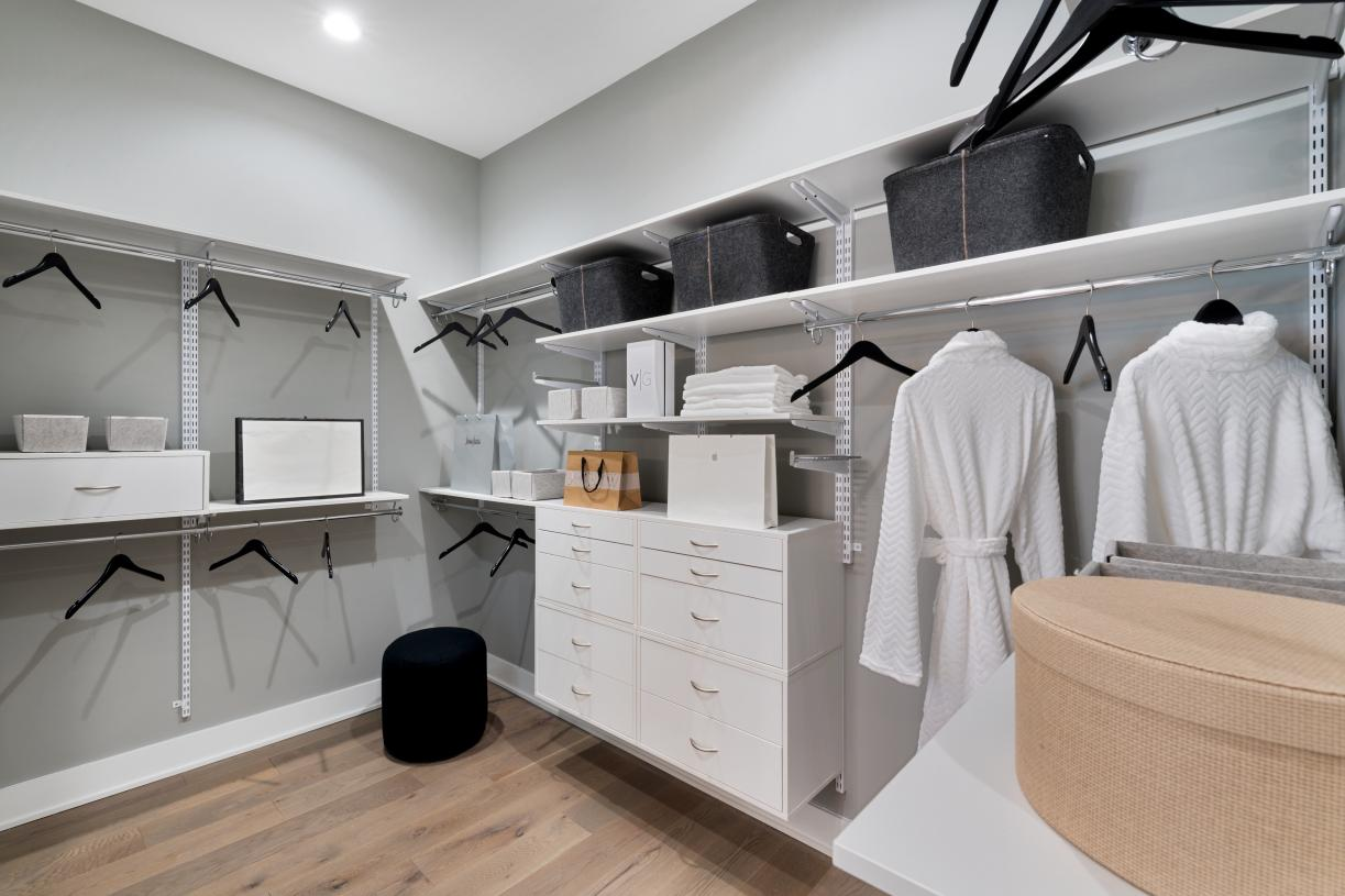Spacious closets in the primary bedroom suite