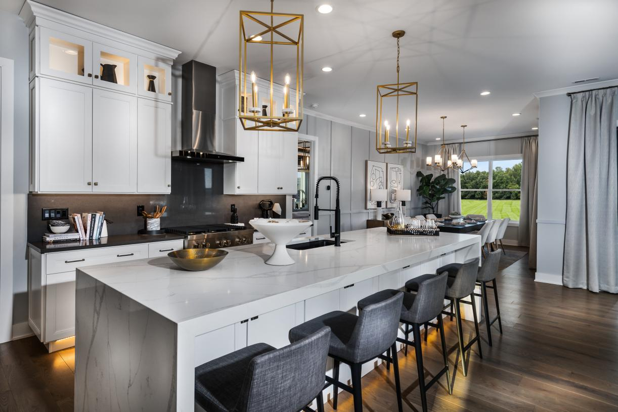 Well-appointed kitchen with center island and ample counter space