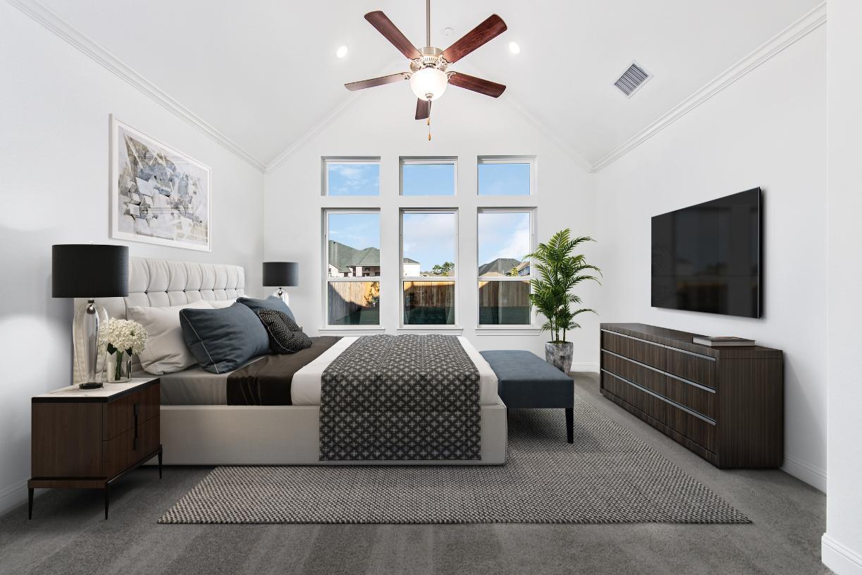 Nicholson's relaxing primary bedroom suite
