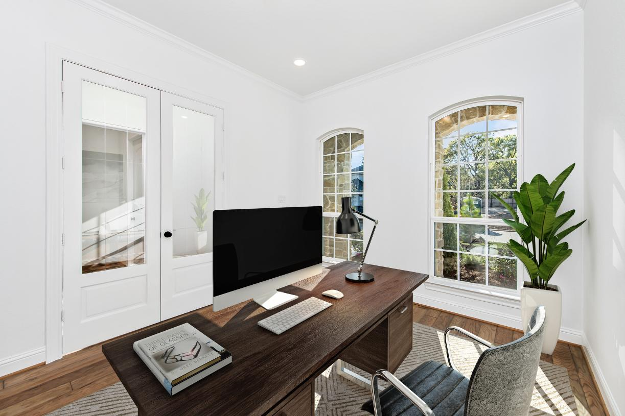 Private office suite provides a quiet space for working