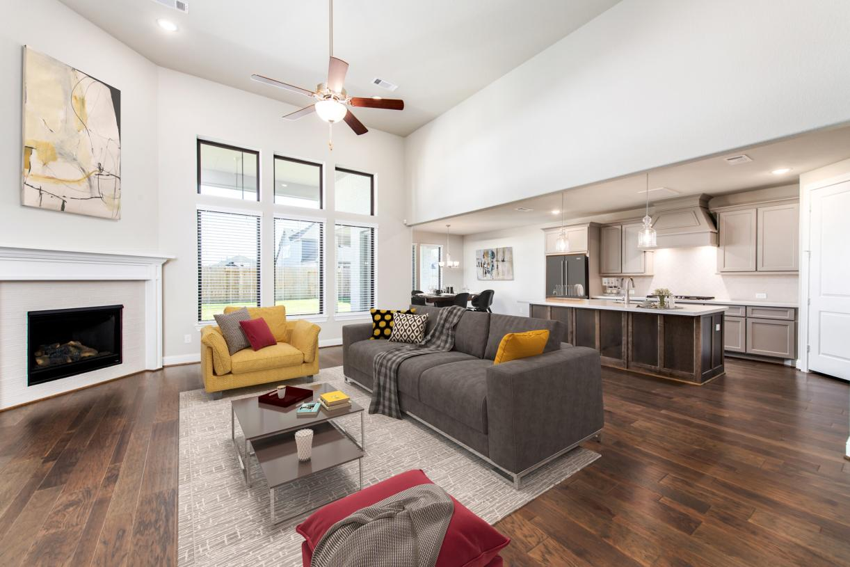 Oversized great room is perfect for hosting family events