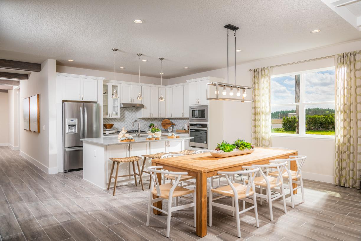 Open concept main living areas
