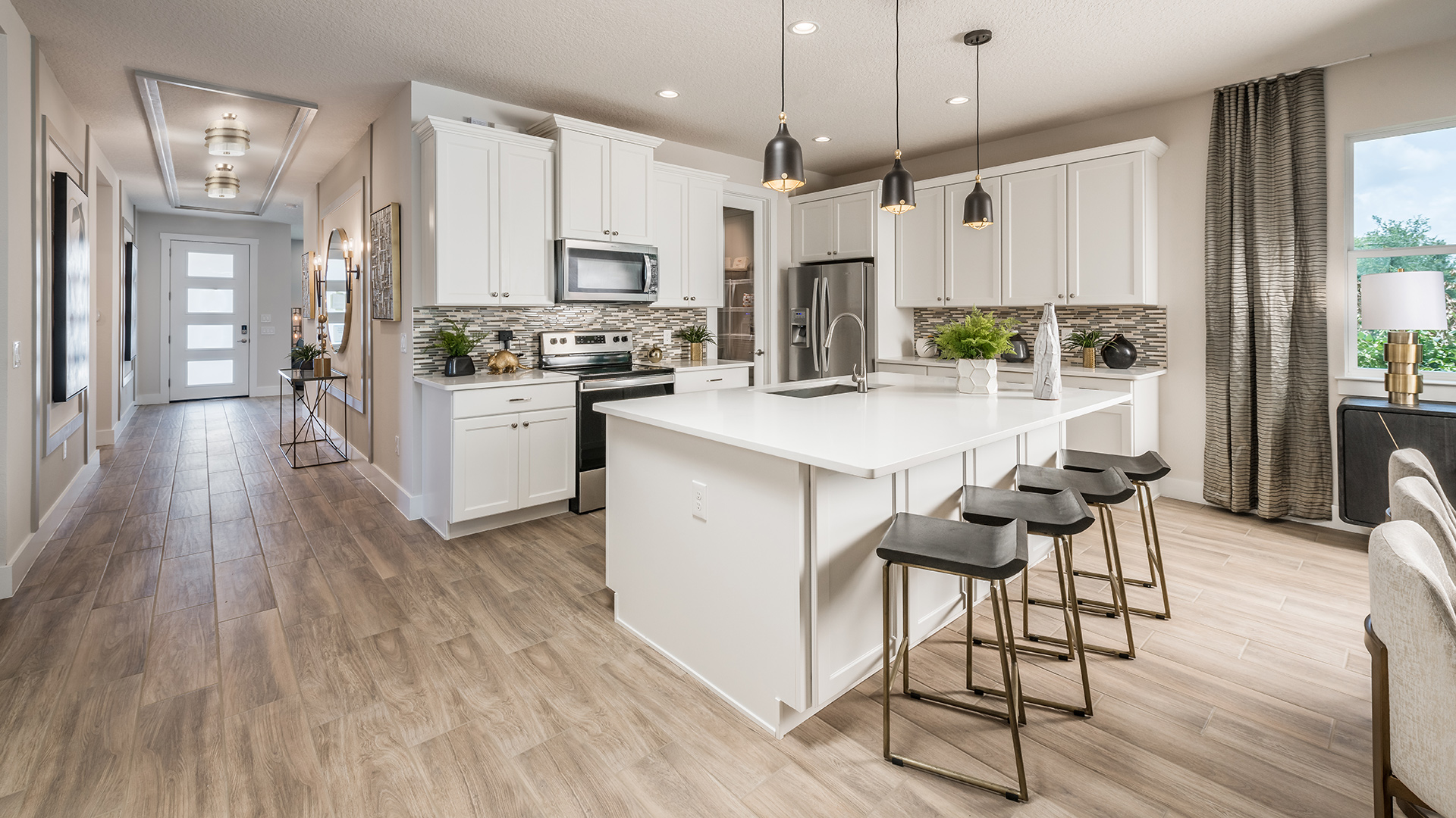 Kitchens with granite and stainless steel appliances