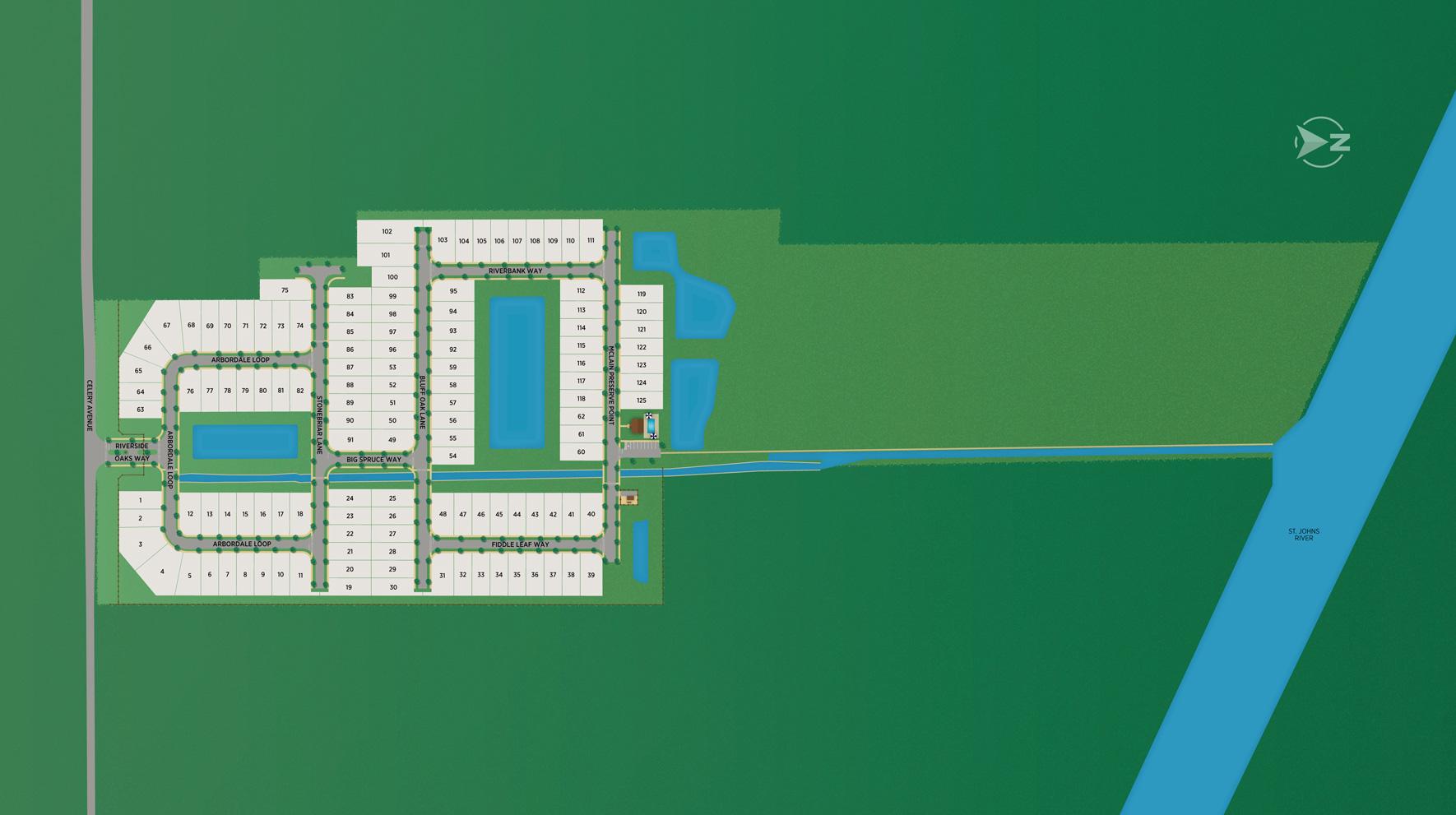 Riverside Oaks Site Plan