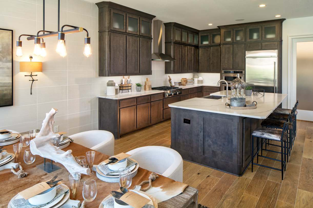 Spacious Longview kitchen and casual dining provide extra room for entertaining