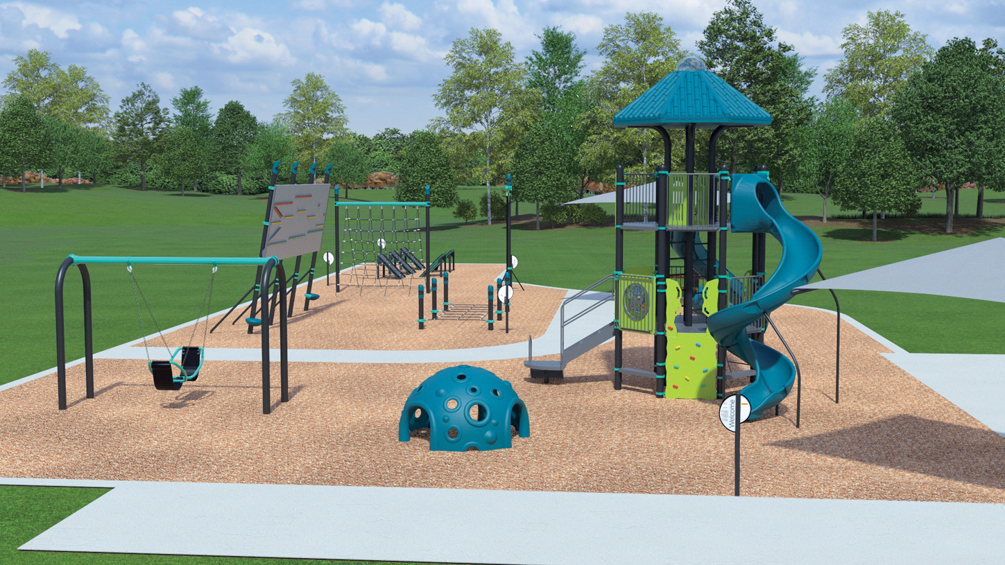 Future playground in Castle Hills within walking distance from your new home