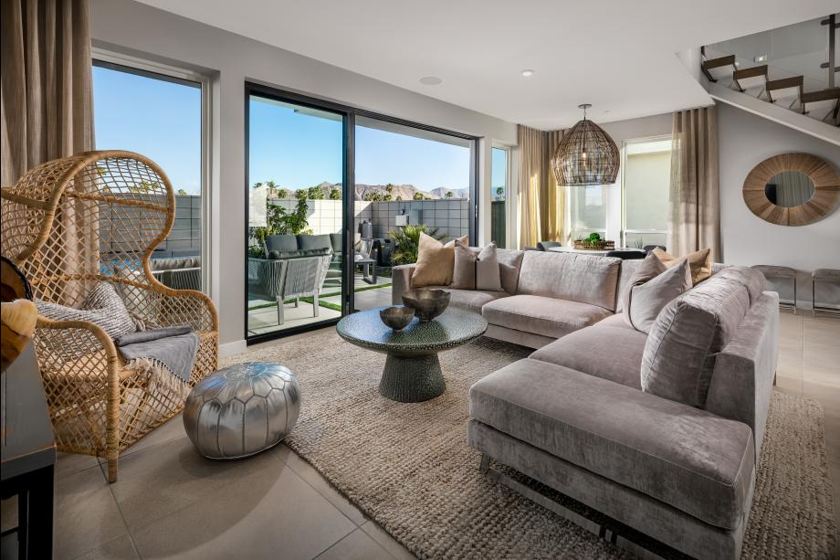 Great room with views to the outdoor space