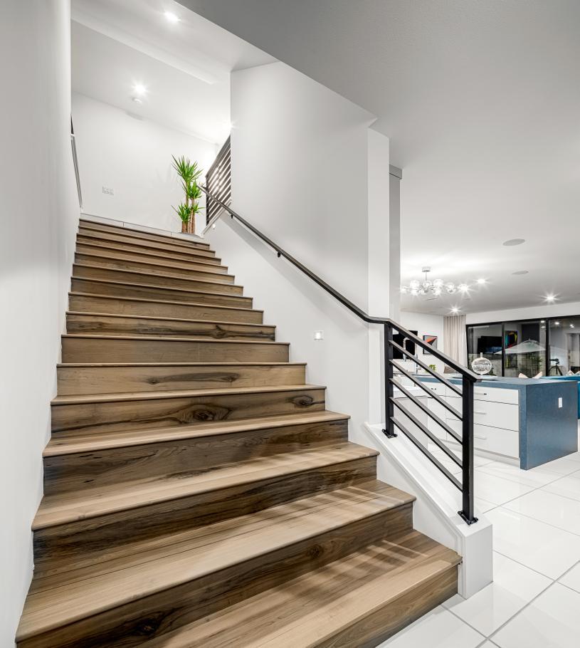 First-floor stairway