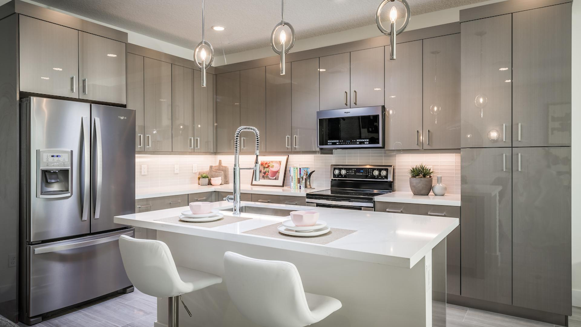 Spacious kitchens with oversize center island