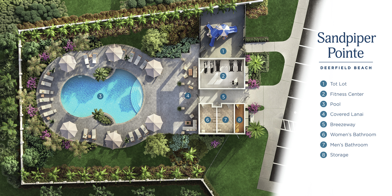 Community amenities include swimming pool, fitness center, and playground