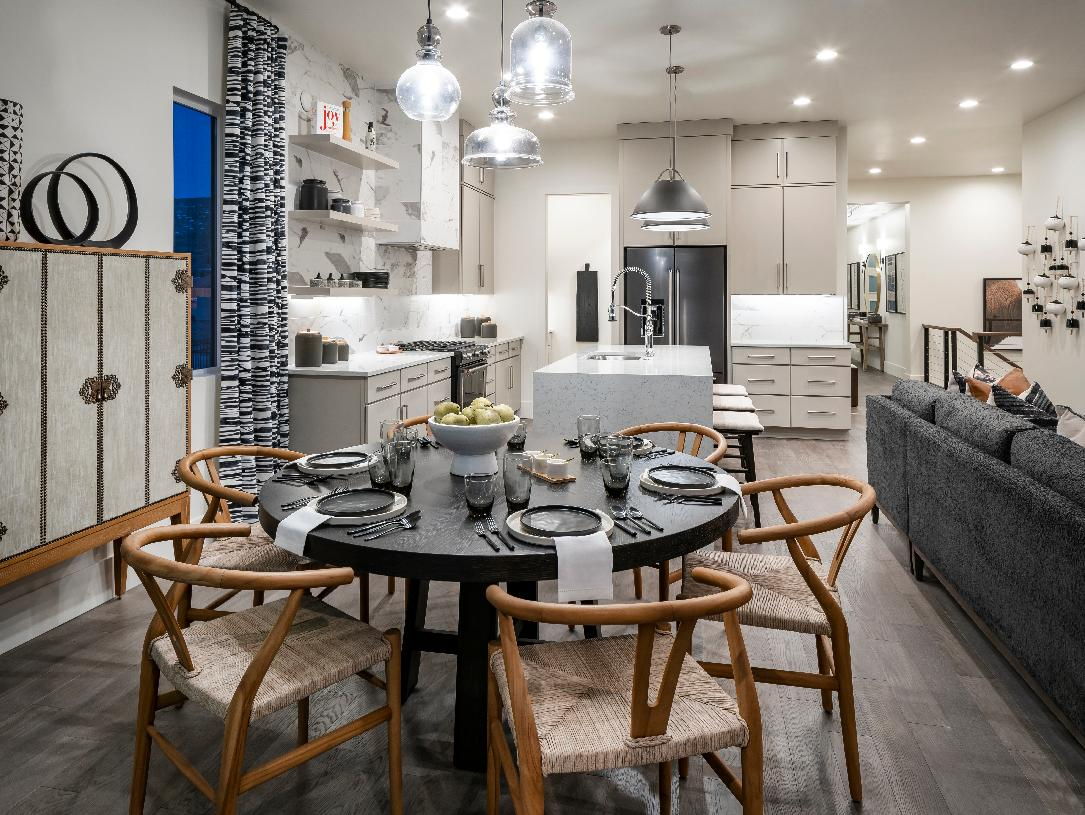 Casual dining space adjacent to the kitchen