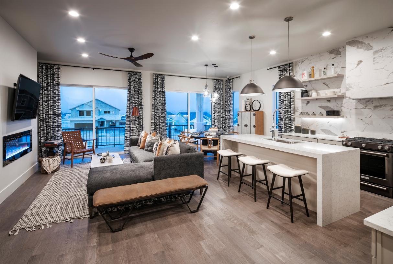 Spacious open-concept floor plan ideal for entertaining