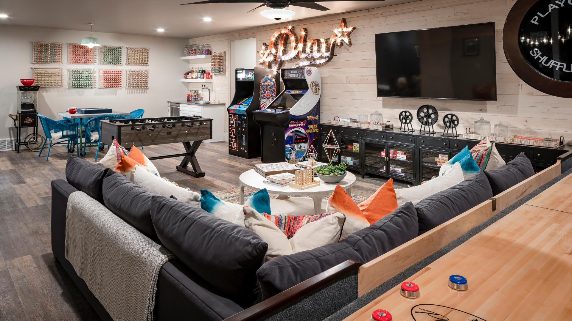 Optional finished basements for additional living and entertaining space