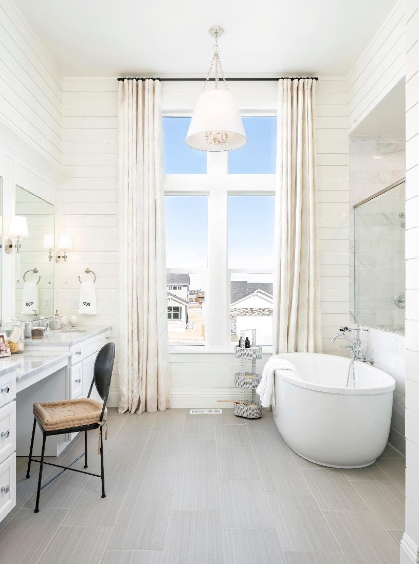Spacious primary bath with standalone tub