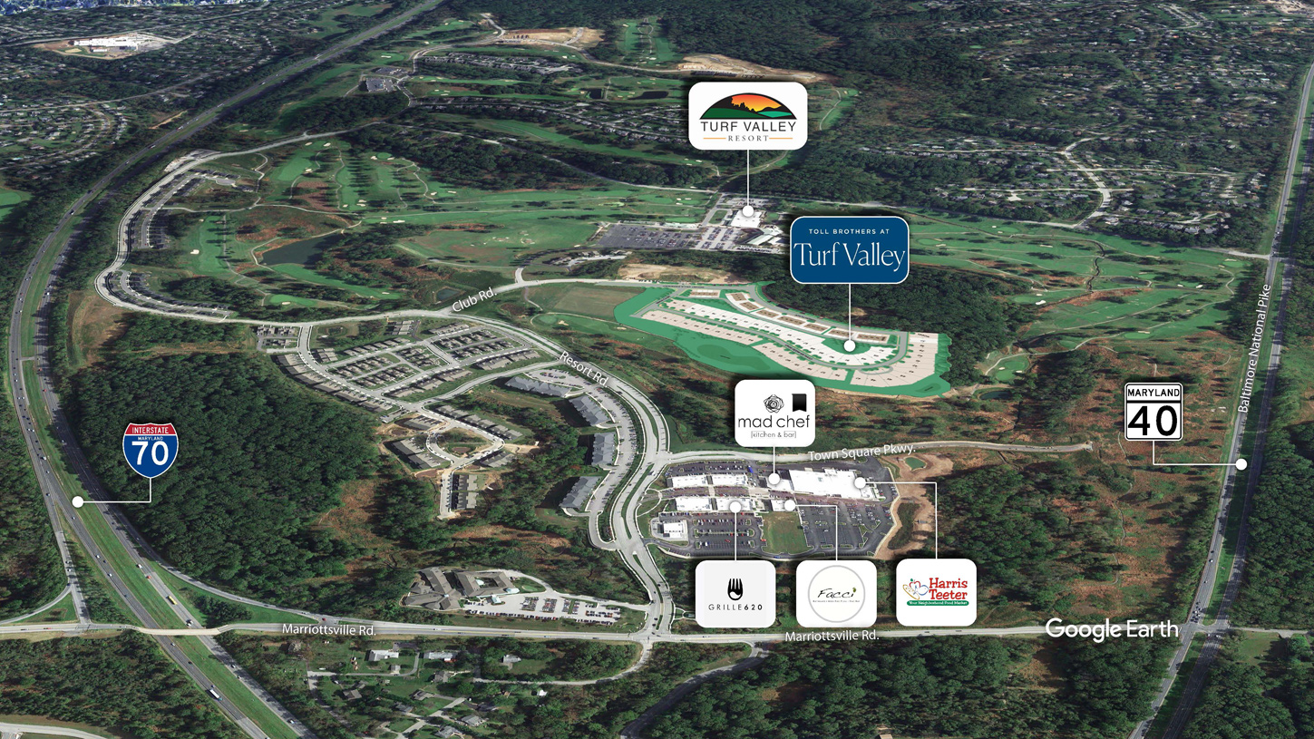 Aerial view - Toll Brothers at Turf Valley