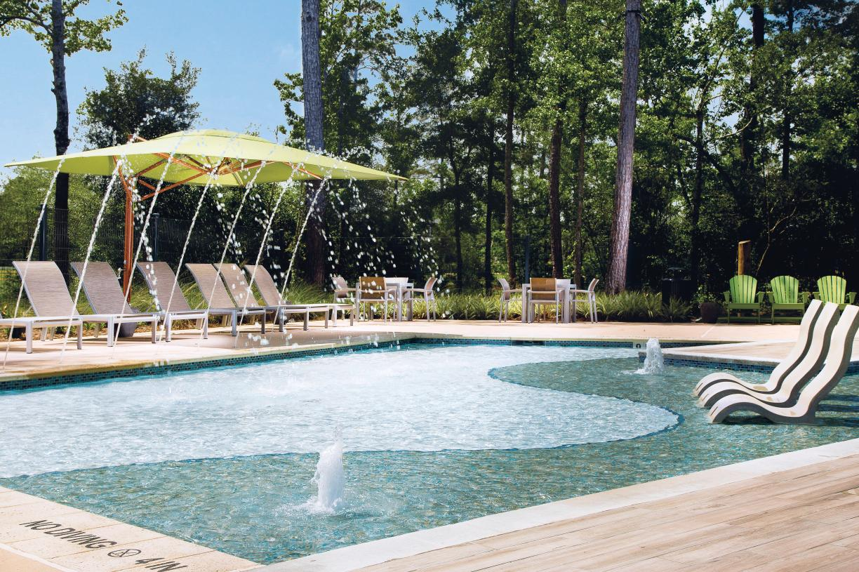 The Hearth resort-style pool and water play area