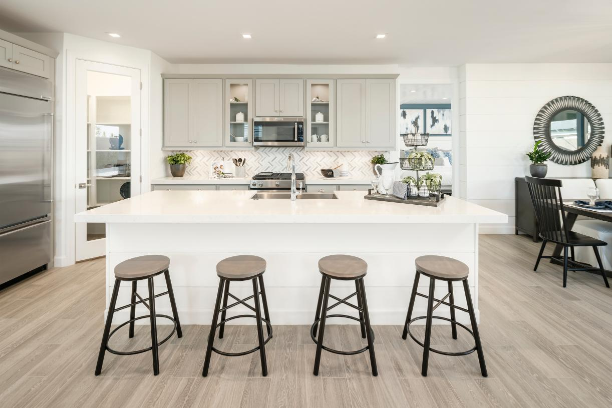 Bright and open floor plans with gourmet kitchens