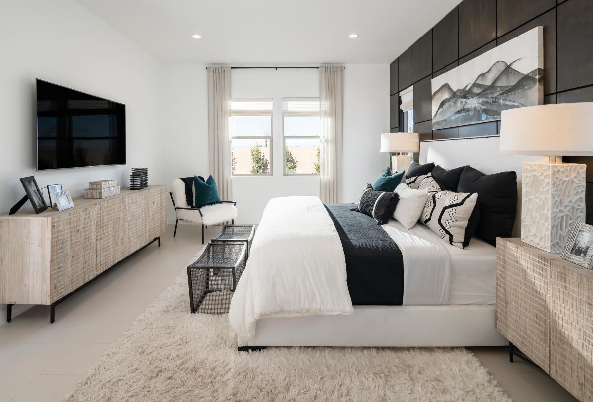 Palatial primary suites with ample natural light