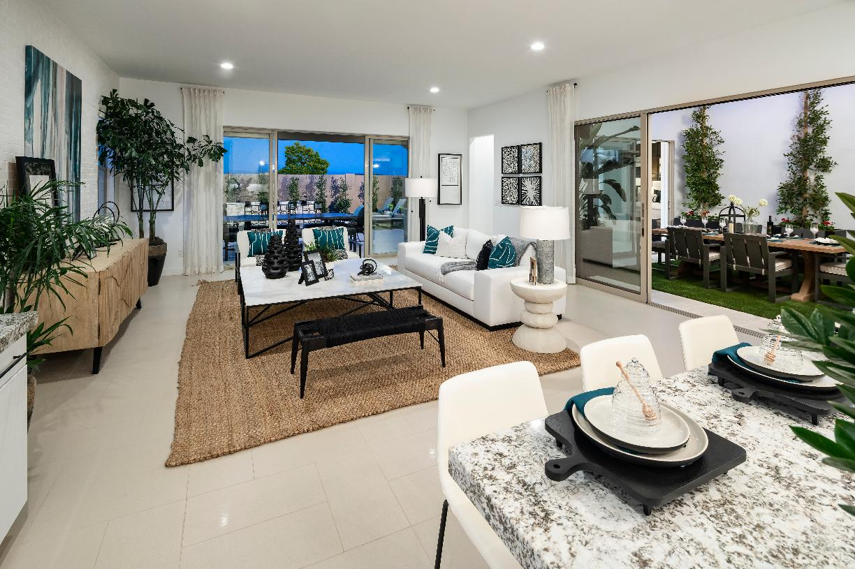 Bright and open floor plans with multi-slide doors that open to outdoor living spaces