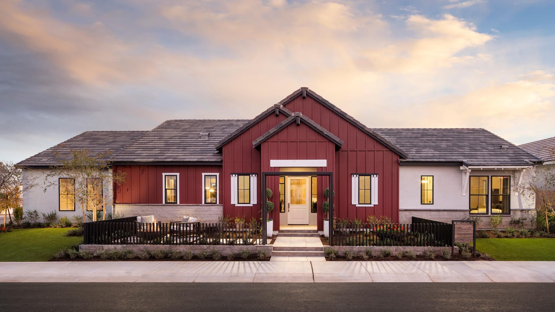 Distinct farmhouse, craftsman, Spanish, and prairie architecture