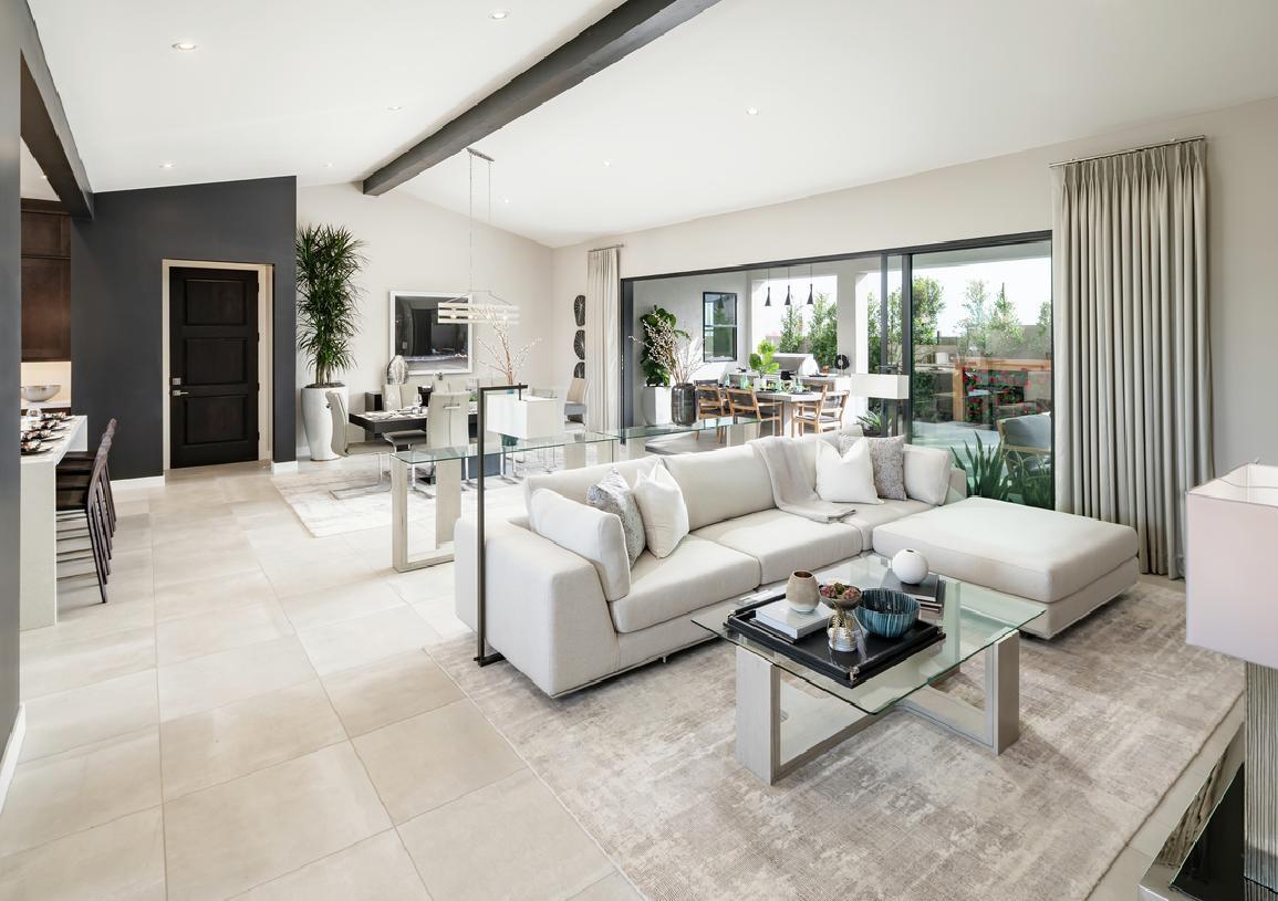 Great room with multi-slide door that opens to outdoor living space