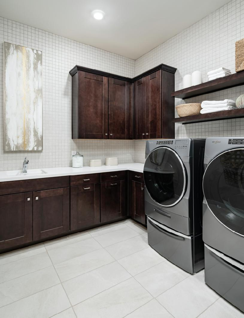 Centrally located laundry room