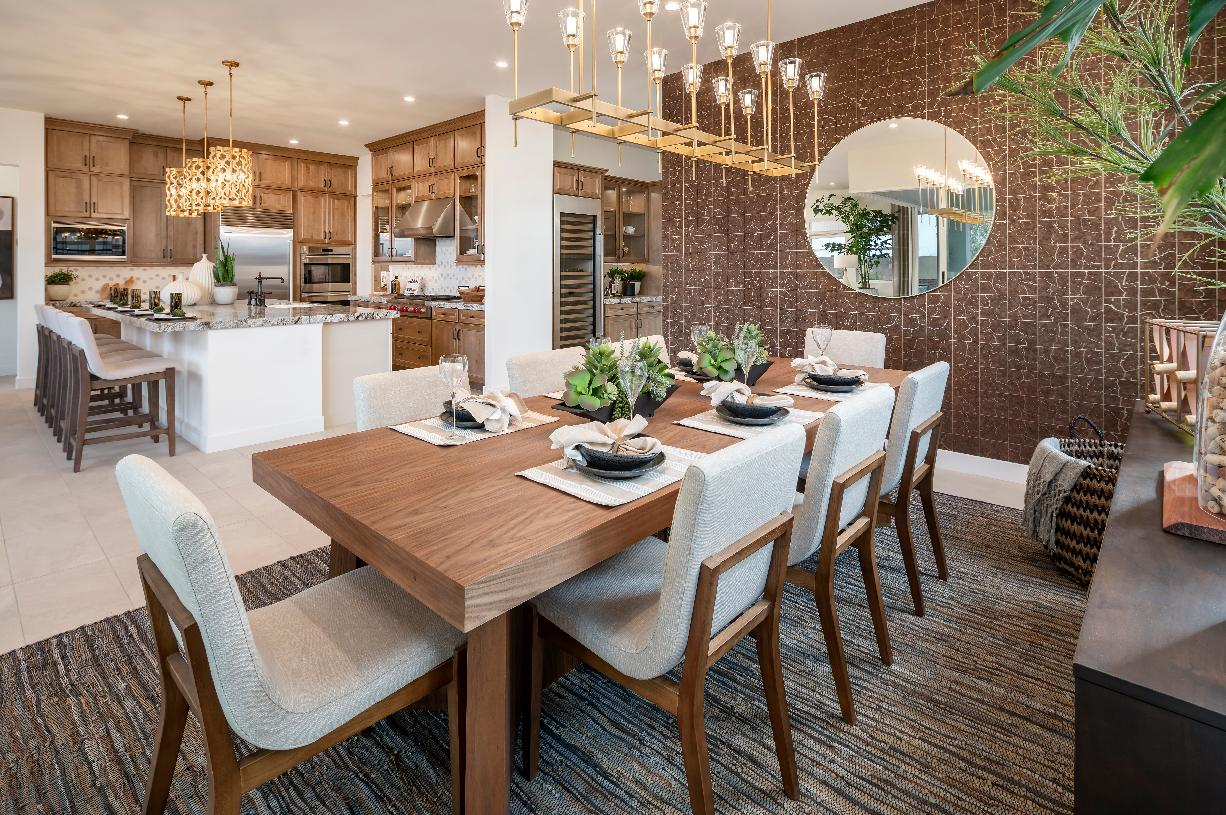 Elegant dining space adjacent to kitchen and great room