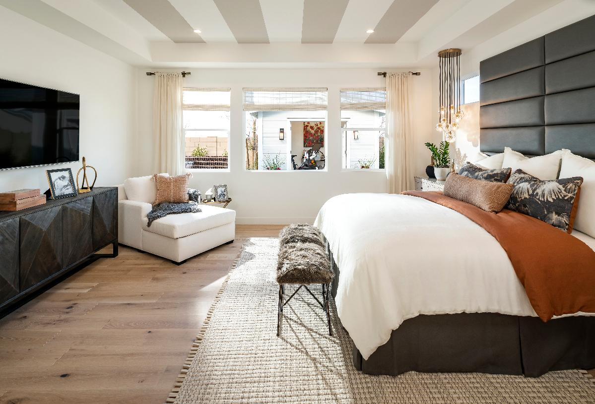 Spacious primary suite with ample natural light
