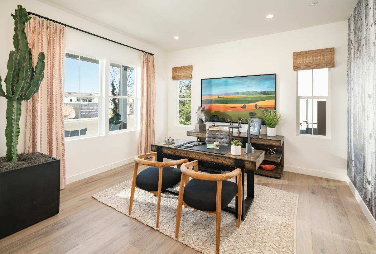 Secluded offices provide great work from home space