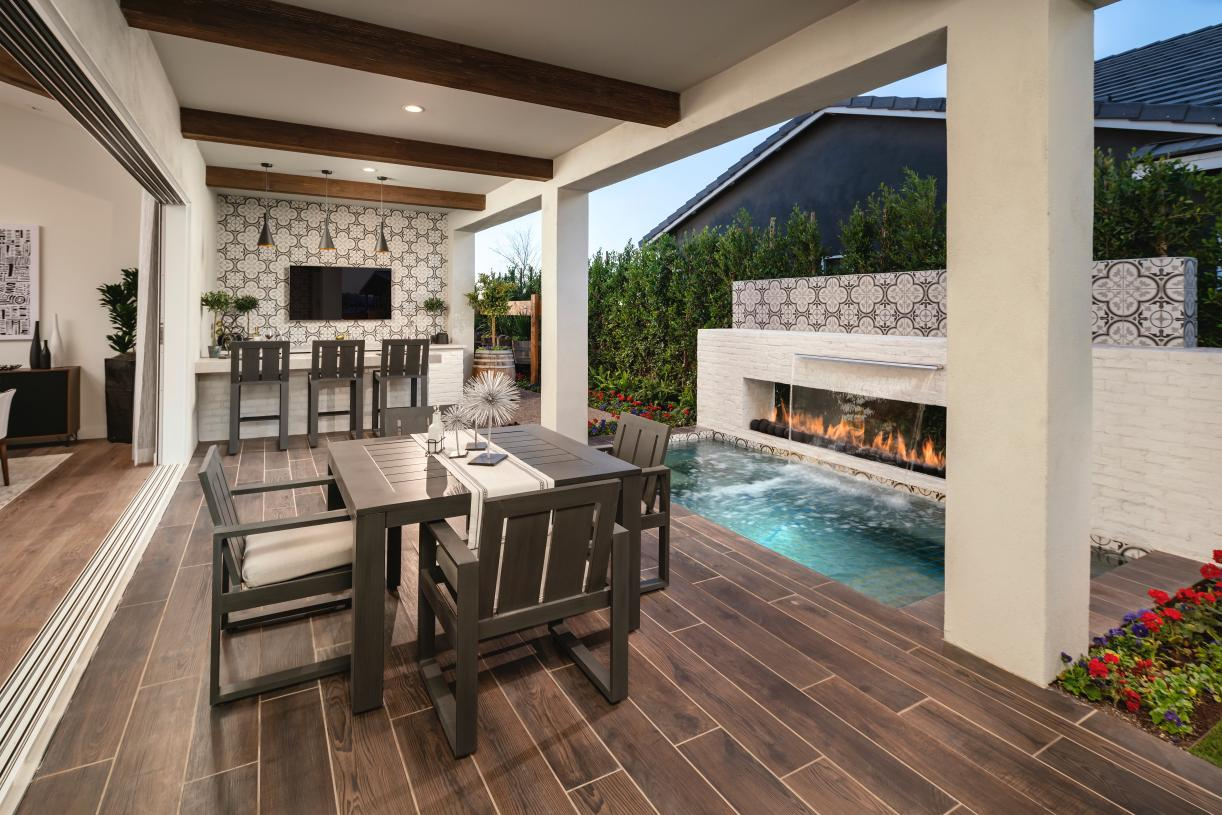 Large covered patios provide optimal outdoor living space