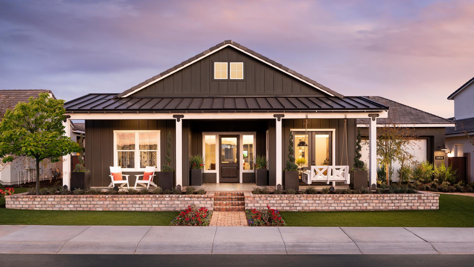 Distinct farmhouse, craftsman, prairie, and Spanish architecture