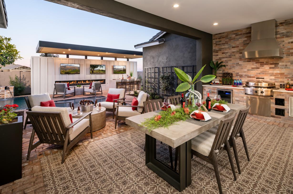 Large home sites provide ideal space for outdoor living