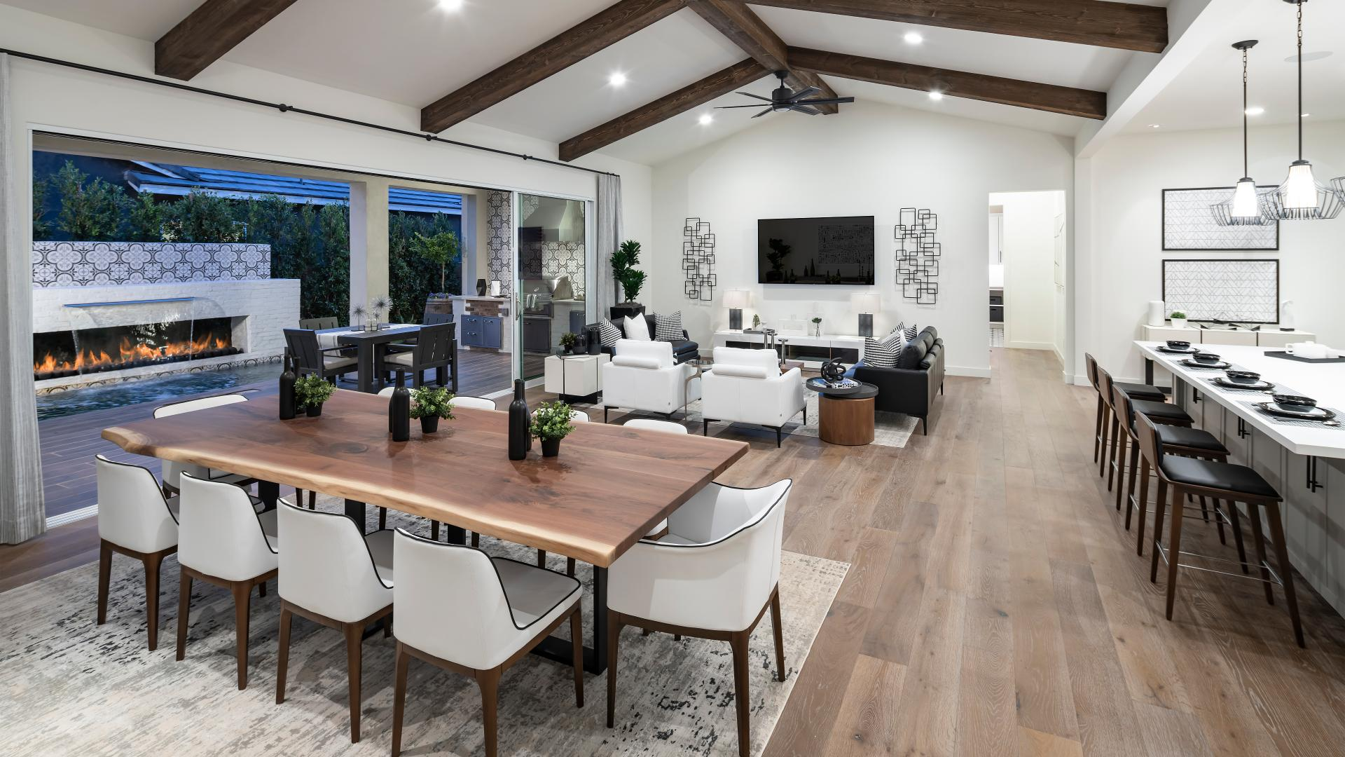 Open-concept great room perfect for indoor and outdoor entertaining