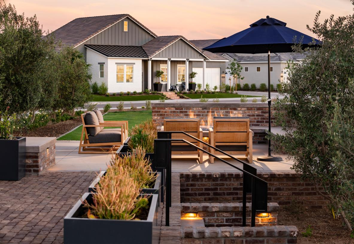 Picturesque community setting with tree-lined streets and cornerstone parks