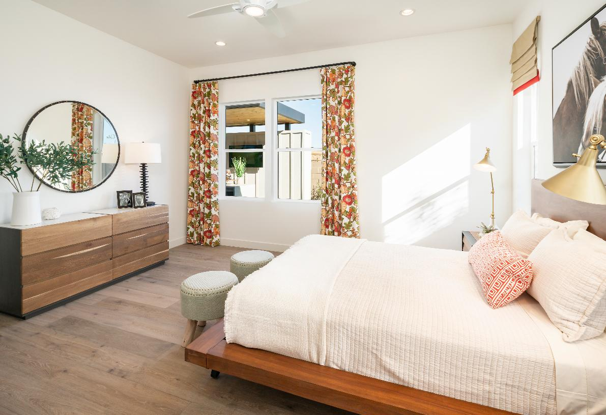 Large secondary bedroom with walk-in closet and private bath