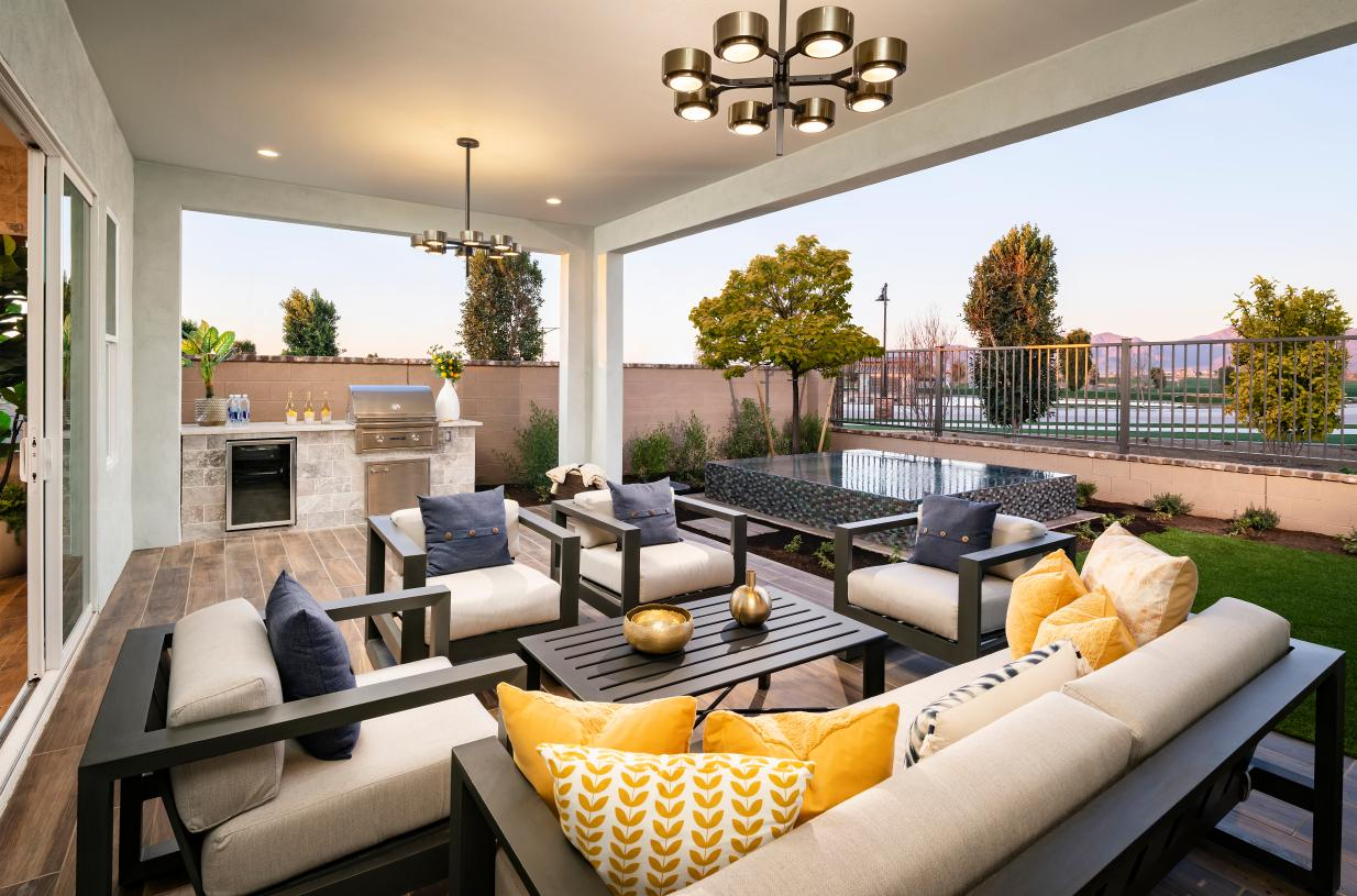 Large covered patios provide seamless indoor/outdoor living space