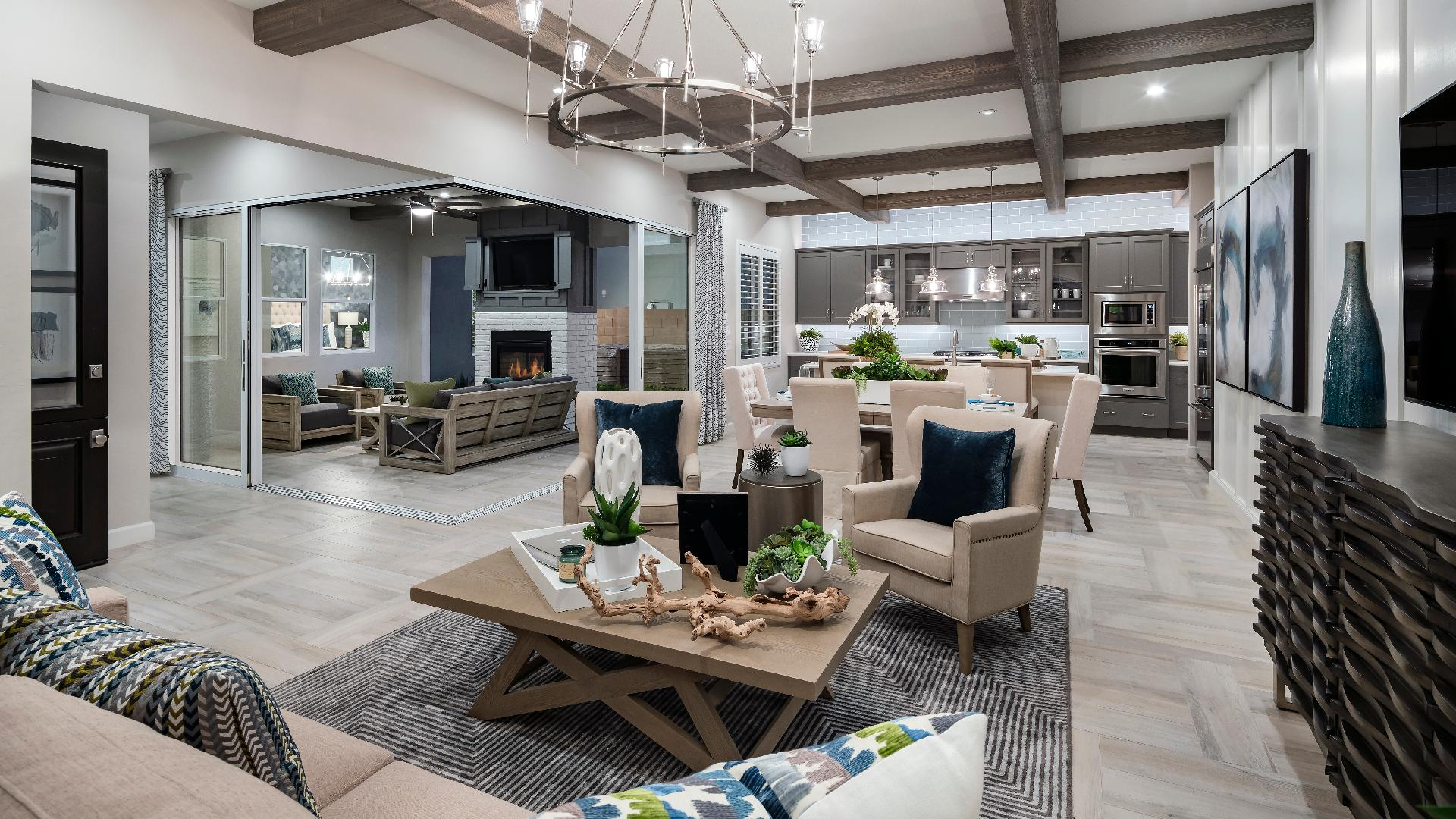 Well-designed floor plans with bright and open main living areas provide ideal space for entertaining