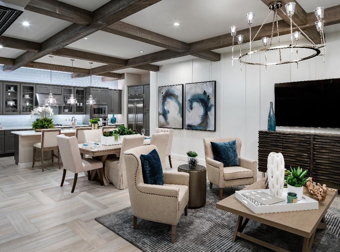 Open-concept floor plan provides versatile living options